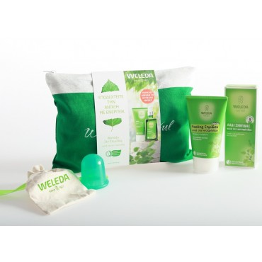 WELEDA Set Birch Cellulite Oil + Peeling with Free Body Brush